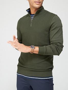 ted-baker-rebal-14-zip-funnel-neck-sweatshirt-khakinbsp