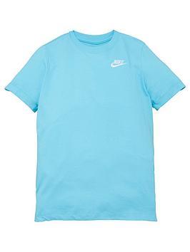 Nike Boys Nsw Embroidered Futura T-Shirt - Blue