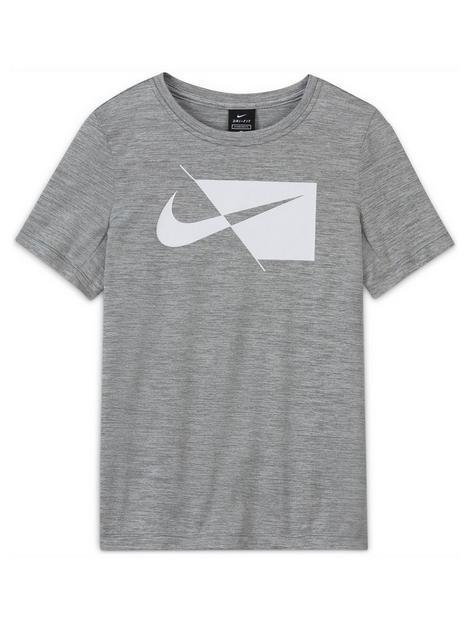 nike-boysnbspdri-fit-short-sleevenbspt-shirt-grey