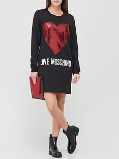 love-moschino-metallic-heart-sweater-dress-black