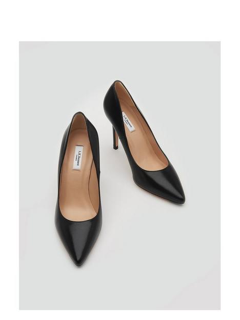 lk-bennett-fern-leather-court-shoes-black