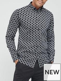 ted-baker-linbal-pattern-print-shirt-blacknbsp