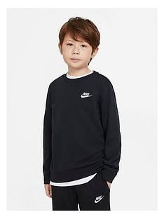 nike-boys-nsw-long-sleeve-crew-necknbspclub-sweat-top-blackwhite