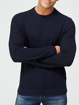 ted-baker-sunburn-waffle-textured-knitted-jumper-navynbsp
