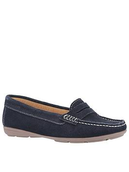 Hush Puppies Margot Loafers - Navy