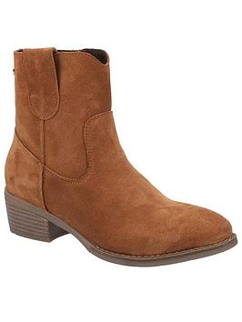 Hush Puppies Iva Ankle Boots - Tan