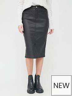 v-by-very-coated-denim-skirt-black