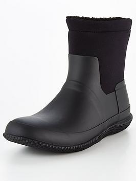 hunter-original-sherpa-turn-over-boots-black