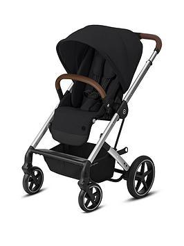 cybex-balios-s-lux-silver-frame-version-luxury-size-pushchair-deep-black
