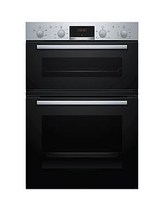bosch-mha133br0b-built-in-double-oven-stainless-steel-and-black