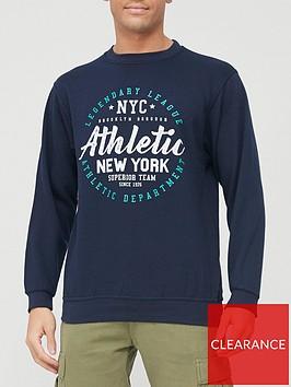 very-man-printed-crew-necknbspsweatshirt-navy
