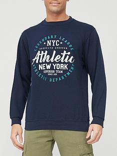 very-man-printed-crew-sweatshirt-navy