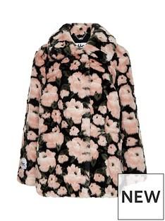 jakke-tilly-floral-print-faux-fur-jacket-pink
