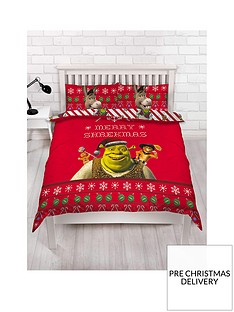 shrek-merry-shrekmas-double-duvet-cover-set