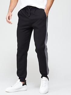 very-man-colour-block-jogger-black