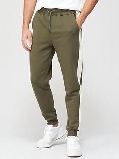 very-man-colour-block-jogger-khaki