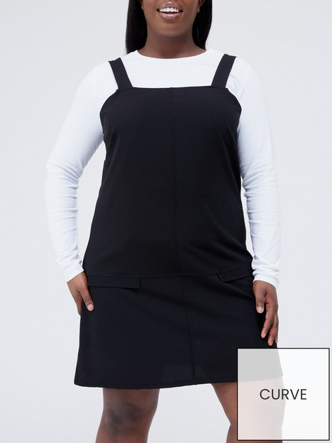 v-by-very-curve-jersey-pinafore-dress-black