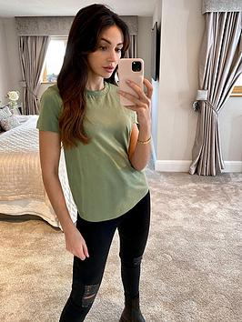 michelle-keegan-short-sleeve-cotton-t-shirt-olive