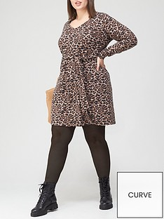 v-by-very-curve-soft-touch-snit-dress-animal-print