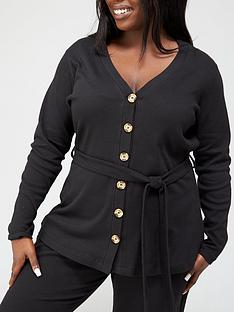 v-by-very-curve-lounge-button-through-cardigan-black