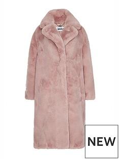 jakke-katie-faux-fur-duster-coat-pink