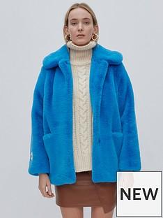 jakke-tilly-faux-fur-jacket-blue