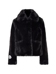 jakke-tommy-faux-fur-cropped-jacket-black