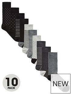 very-man-fresher-for-longer-10-pack-pattern-socks-blackgrey