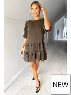 ax-paris-smock-dress-khaki