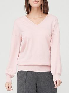 v-by-very-valuenbspv-neck-knitted-jumper-blush