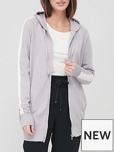 v-by-very-valuenbsplong-line-side-panelnbspknitted-hoodie-grey