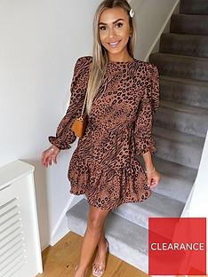 ax-paris-petite-tiered-animal-print-dress-camel