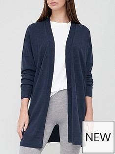 v-by-very-super-soft-edge-to-edge-longline-knitted-cardigan-navy