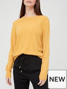 v-by-very-super-soft-crew-neck-deep-rib-hem-knitted-jumper-mustard
