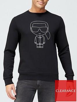 karl-lagerfeld-outline-sweatshirt-black
