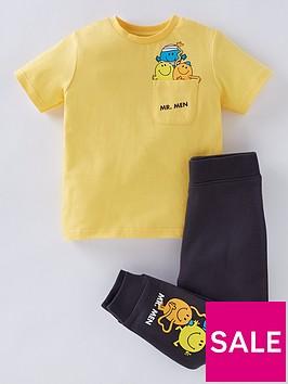 mr-men-girls-little-missnbsp2-piece-short-sleeve-t-shirt-and-leggingsnbspset-yellow