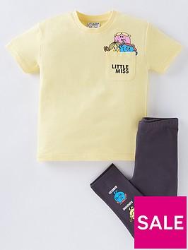 mr-men-boys-2-piece-short-sleeve-t-shirt-and-joggers-set-yellow
