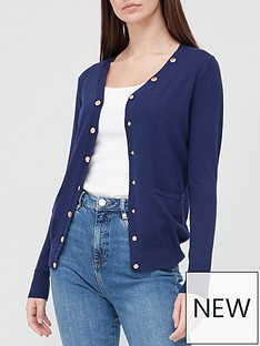 v-by-very-v-neck-buttoned-knitted-cardigan-navy