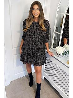 ax-paris-printed-smock-dress-black