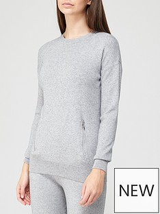 v-by-very-seam-zip-detail-knitted-jumper-co-ord-grey-marl