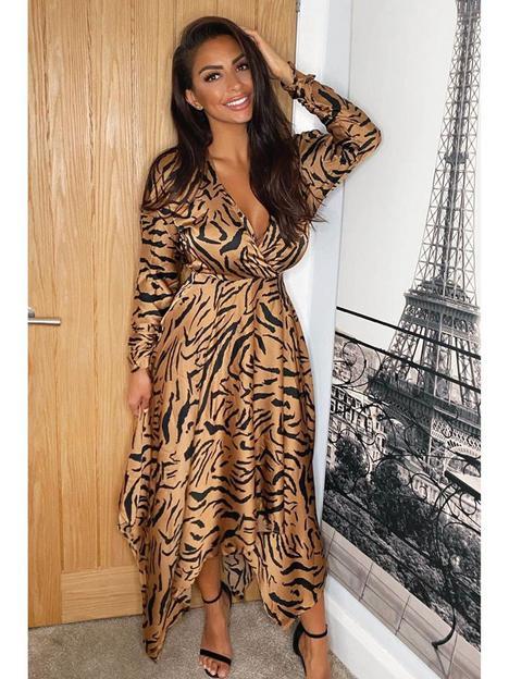 ax-paris-animal-wrap-midi-dress-camel
