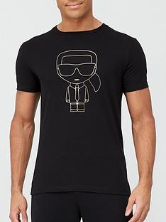 karl-lagerfeld-gold-karl-outline-t-shirt-black