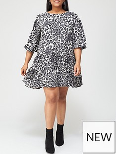 ax-paris-curve-animal-smock-dress-grey