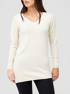 v-by-very-v-neck-relaxed-fit-longline-knitted-jumper-cream
