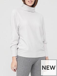 v-by-very-valuenbspsuper-softnbspoversized-batwing-roll-neck-knitted-jumper-grey-marl