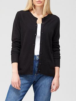 v-by-very-super-soft-deep-rib-hem-knitted-cardigan-black