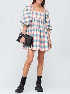 paper-london-martha-check-smock-dress-multi
