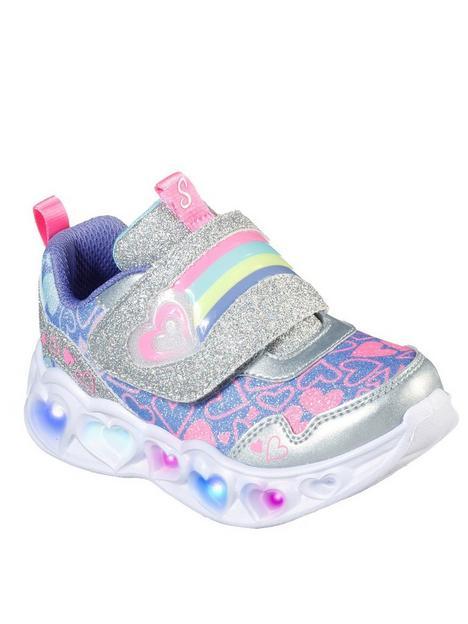 skechers-toddler-heart-lights-lovie-dovie-trainers-silver