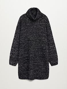 mango-roll-neck-knitted-pepper-dress-black