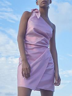 paper-london-naxos-one-shoulder-metallic-mini-dress-purple